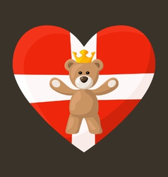 Danish Royal Teddy Bear vector image