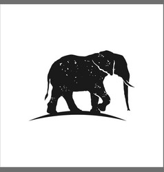 elephant silhouette vector image