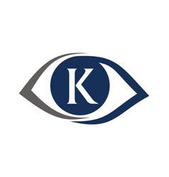 Eye care solutions letter k vector