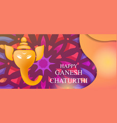 Ganesh chaturthi art background design with vector