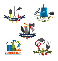 gardening tools and agriculture equipment icon vector image