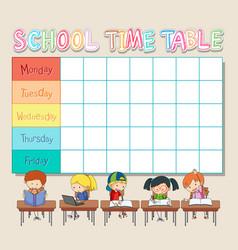 Gf ii backtoschool timetable 04 vector