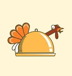go vegan thanksgiving turkey color symbol vector image