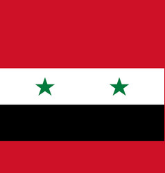 government flag of syrian arab republic vector image