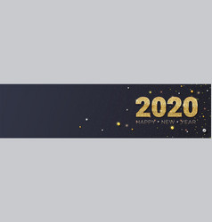 happy new year 2020 glittering golden dust and vector image