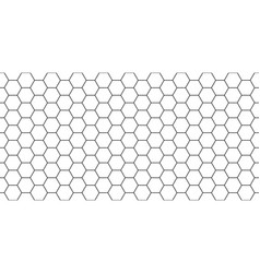 Hexagon seamless pattern honeycomb background vector