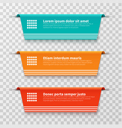infographic banners color labels isolated vector image