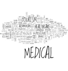 Is medical tourism for you text background word vector