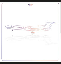 Isolated passenger aircraft vector