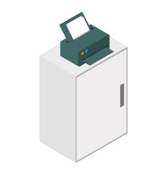 Isometric laser printer icon vector image