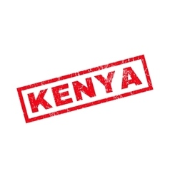 Kenya Rubber Stamp vector