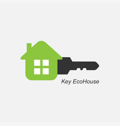 key eco house icon logo for the company vector image