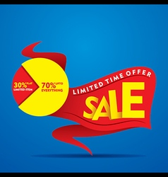 Limited time offer sale on everything banner desi vector