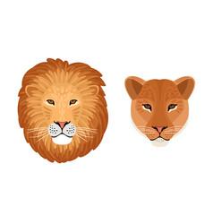 lion head emblems vector image