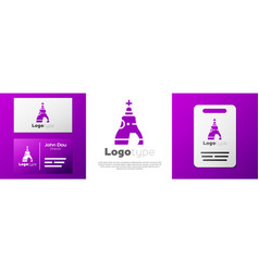 Logotype the tsar bell in moscow monument icon vector