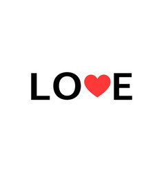 love slogan print love for your design banner or vector image