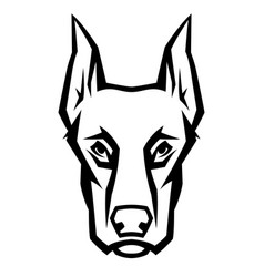mascot stylized doberman head vector image