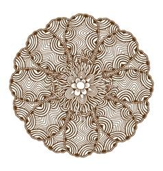 Mehndi Henna Tattoo Mandala vector
