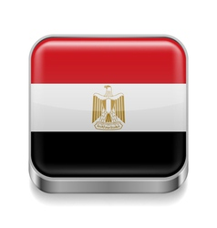 Metal icon of Egypt vector