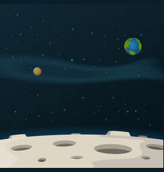 Moon surface vector