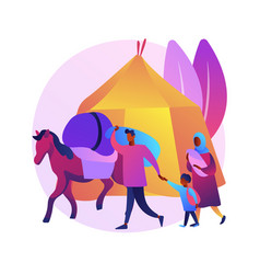 Nomadism abstract concept vector