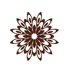 oriental circle pattern laser cutting mandala vector image