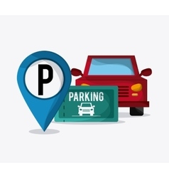 Parking lot design Park icon White background vector