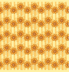 pattern with waves of flowers vector image