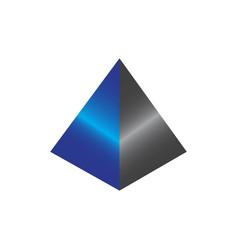 Prism pyramid 3d logo concept vector