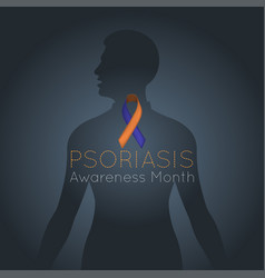 psoriasis awareness month logo icon vector image