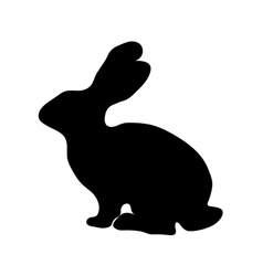 Rabbit silhouette vector