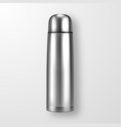 Realistic 3d silver empty glossy metal vector