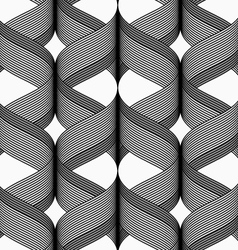 Ribbons with dark top cross overlapping pattern vector image