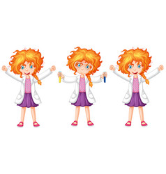 Science student in three poses vector