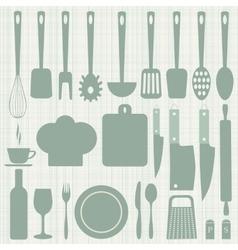 Seamless kitchen vector image