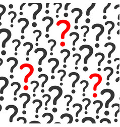 seamless pattern background with question vector image