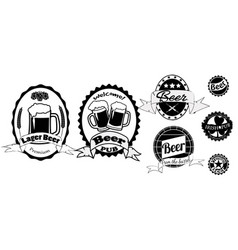 set beer labels isolated vector image