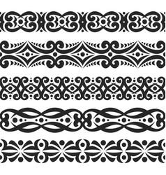 set black seamless borders vector image