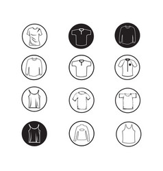 Set of apparel shirt and t-shirt icon clothing vector