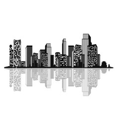 Silhouette of the city vector
