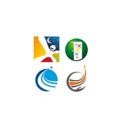 Success life coaching logo set vector