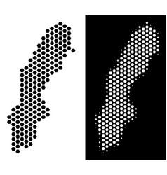 Sweden map hex-tile abstraction vector