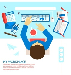 Top view office man vector image