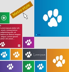 trace dogs icon sign buttons Modern interface vector image