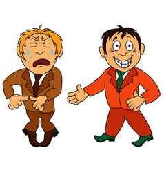 Two amusing and funny cartoon men vector