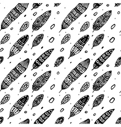 Vintage Feathers Seamless background vector image