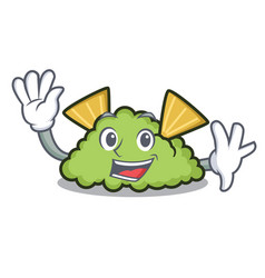 waving guacamole character cartoon style vector image
