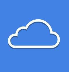 Web Cloud Icon vector image