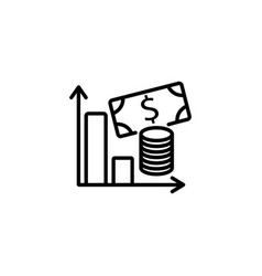 web line icon business money and graph vector image