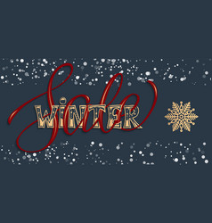winter sale with hand drawn vector image